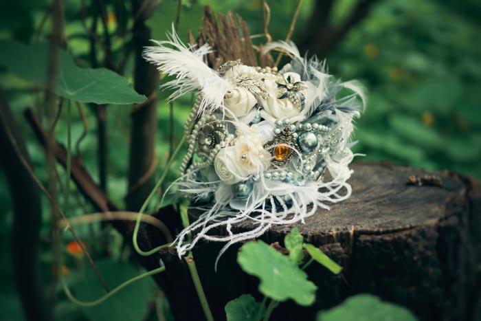 Lizelle's bouquet at the Honeymoon Suite at Schoone Oordt